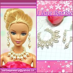 doll jewelry set doll necklace and earring for dolls