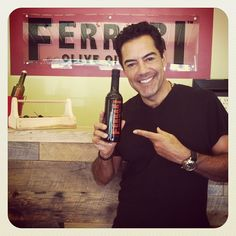 """Carlos Gomez of """"The Glades"""" fame came by the store today. He loved the Godfather Balsamic."""