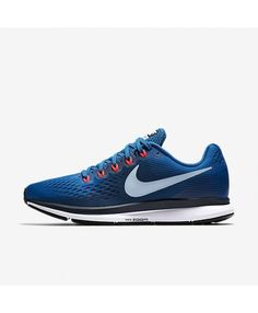ae7aa5098f3 Nike Air Zoom Pegasus 34 Blue Jay Obsidian Solar Red Light Armory Blue  880555-402