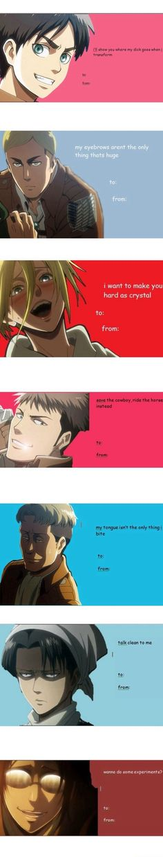 Attack on Titan / Shingeki no Kyojin || valentine's cards