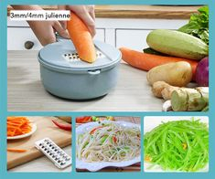 8 in 1 Vegetable Slicer Potato Peeler Carrot Onion Grater with Strainer Vegetable Cutter Kitchen Accessories – Pikewear Potato Peeler, Mandolin Slicer, Kinds Of Vegetables, Vegetable Slicer, Food Chopper, Sliced Potatoes, Chopped Salad, Vegetable Recipes, Vegetable Salads
