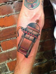 French Press done by Matt Houston, Gastown Tattoo Parlour #coffee