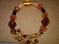 Lampwork Beaded Bangle Bracelet by FarringtonBead on Etsy, $15.00
