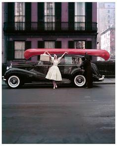 Barbara Mullen, New York, 1956. Photo : William Helburn.