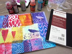 Printing with Gelli Arts®: Gelli® Printing, Planners, Totes…and GINORMOUS GIVEAWAY!!