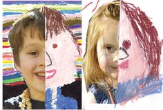 """""""It's great for children to create a portrait of themselves or another family member, both from a self esteem and belonging perspective as well as an artistic one. It helps develop fine motor skills, an understanding of symmetry, color and shape."""" - Pure Wander Magazine"""