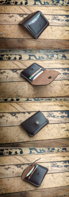 Horween Chromexcel Snap Wallet with 3 Pockets