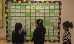 Multiplication Table Project ~ Students create a multiplication chart using arrays or groups. IDEA for our tutor bulletin board Math Teacher, Math Classroom, Teaching Math, Teaching Ideas, Multiplication Activities, Math Activities, Multiplication Chart, Fractions, Math Strategies