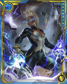 Storm wrestles with the consequences of her immense powers, and also her humble… Marvel Heroes, Marvel Dc, Marvel Comics, Quasar Marvel, Black Panther Tattoo, X Men Evolution, Marvel Cards, Art Girl, Mythology