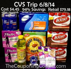 We had a great CVS shopping trip on 6-8! We picked up $79.18 worth of items for only $4.45! We saved 94% shopping at CVS this week!  Click the link below to get all of the details ► http://www.thecouponingcouple.com/cvs-shopping-trip-on-6-8-94-savings/