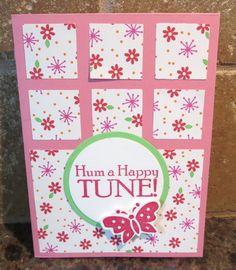 A card using up paper scraps by Karen Ladd