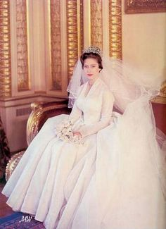 Princess Margaret on her wedding day, May 6 1960