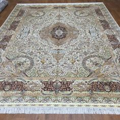 274x366cm(9x12ft) Exquisite Handmade Medallion Persian Silk Carpet #art #handmadesilkpersiancarpet #handmadesilkcarpet #orientalsilkcarpet #chinesesilkcarpet #chinasilkrug #traditionalcarpetdesigns #persiancarpetsale #orientalsilkrug #silkcarpet #chinasilkcarpetprice #orientalcarpet #orientalrug #carpetdesigns #woolsilkrug #woolsilkcarpet
