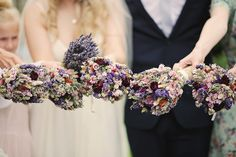 Rustic dried flower bouquets   Photography by Helen Russell.