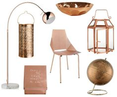 Copper furnishings for your home, adding a punch of glamour to any room