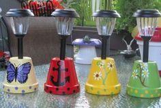Solar Light Clay Pots                                                                                                                                                                                 Más