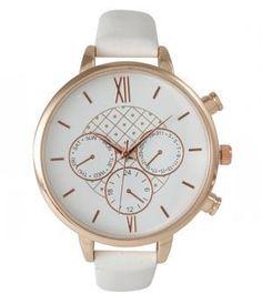 Ily Couture White Margo Watch