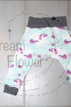 Spreidbroek legging/broekje unicorns mint door Dreamflowerclothing