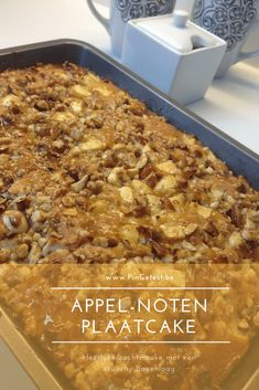 Appel noten plaatcake PinGetest