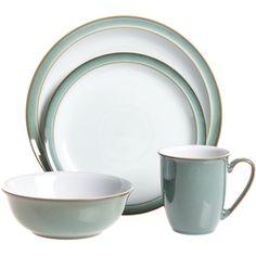 Denby Regency Green 16-piece Dinnerware Starter Set ($200) ❤ liked on Polyvore  sc 1 st  Pinterest & Denby dinnerware   Pretty Kitchen things   Pinterest   Dinnerware ...