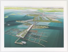 Aquaculture Research and Development Center, Water Proving Ground Project, Liberty State Park, NJ  Aerial perspective