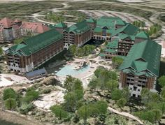 Disney's Wilderness Lodge (Google Earth 3D)