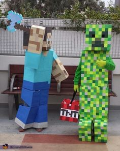Cynthia: My two sons Jayden and RJ who are 8 & 9 years old are the ones wearing the costumes. My kids love playing the game Minecraft so that is where...