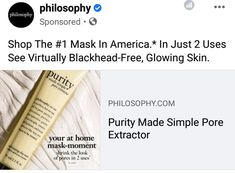 Facial Procedure, Shrink Pores, Glowing Skin, Make It Simple, Philosophy, In This Moment, Free, Philosophy Books