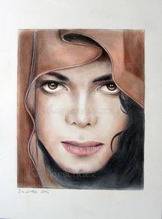 My Magician - Michael Jackson,King of Pop,Unikat Zeichnung Drawing Bild Art