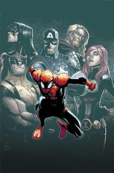 Spider-Man & The Avengers by Humberto Ramos & Edgar Delgado