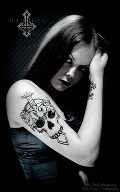 Like tattoo as an outline, maybe keep it black n white w shading or add some color ?
