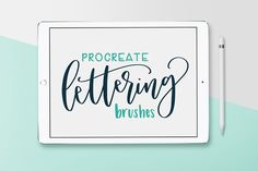 My absolute fave brush pack for iPad lettering! Getting these brushes was a game changer for me. Pack of 8 Procreate Brushes by Hewitt Avenue on @creativemarket #afflink