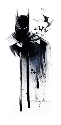 Batman art from Etsy.com