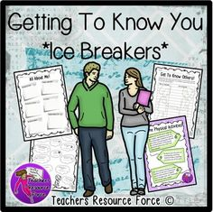 Getting To Know You Ice Breakers for teens. This resource pack contains everything you need to help break the ice with your students. This would be ideal for any new class whether they are just new to you or even new to each other! Although it is great for the start of the academic year, many of us deal with casual admissions and students who join late in the year. These resources will be great for helping you get to know them better and for them to integrate into the group.