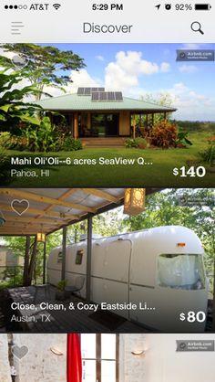 Airbnb iPhone feeds screenshot