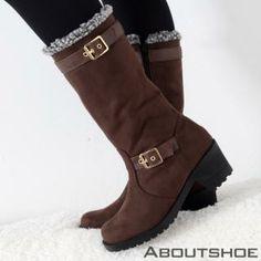 Chunky-Heel Mid-Calf Boots from #YesStyle <3 ABOUTSHOE YesStyle.com