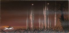 Image detail for -Sleeping Beauty Concept Art by Eyvind Earle -  this is a cue one