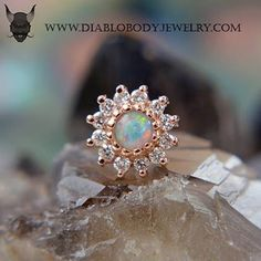 #BVLA The Rose, #10-1100-DIA/WO #RoseGold with VS #Diamonds and White Opal…
