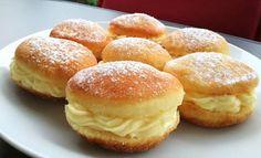 Smažené pudinkáče | NejRecept.cz Czech Recipes, Hungarian Recipes, Sweet Pastries, Pavlova, Cookie Recipes, Sweet Tooth, Muffin, Food And Drink, Favorite Recipes