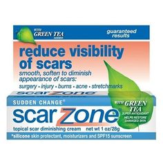 Sudden Change Scar Zone Topical Scar Diminishing Cream, with Green Tea Added, 1 oz (28 g) (Pack of 2) null,http://www.amazon.com/dp/B001ET7LRG/ref=cm_sw_r_pi_dp_XvYltb0H4W9SKFCN