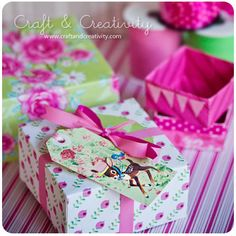 Craft of the Day, paper boxes DIY .. http://craftandcreativity.com/blog/2011/11/01/dagens-pyssel-pappersaskar-craft-of-the-day-paper-boxes/