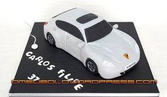 """""""Porsche Panamera"""" - by OMeuBolo @ CakesDecor.com - cake decorating website"""