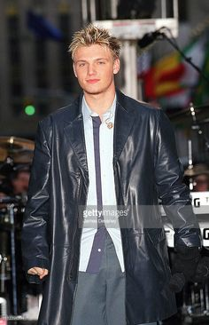 Nick Carter of Backstreet Boys during Backstreet Boys Perform on 'The Today Show' - February 7, 2001 at Rockefeller Center in New York City, New York, United States.
