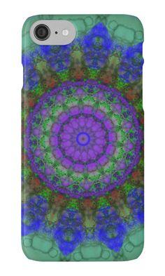 Shop Purple Fantasy mandala iPhone 5 case created by bigspl. Iphone Se, Iphone Case Covers, Mandala Pattern, Plastic Case, Protective Cases, Outdoor Blanket, Fantasy, Purple, 6 Case