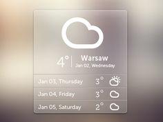 Dribbble - Weather Pop-up by Monika Majkowska