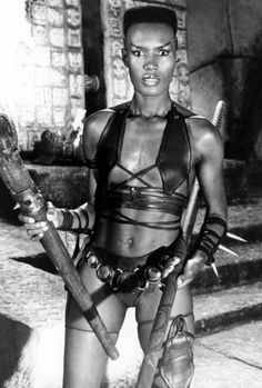 """Conan the Destroyer Grace Jones as """"Zula"""" Changed the way people look at beauty and strength in women. Grace Jones, Afro, Conan The Destroyer, Black Girl Magic, Black Girls, Vintage Black Glamour, Conan The Barbarian, Hollywood, Lady And Gentlemen"""