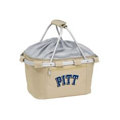 Picnic Time Metro Basket Pittsburgh Panthers Print (62 CAD) ❤ liked on Polyvore featuring home, kitchen & dining, food storage containers, tan, picnic baskets, collapsible food storage containers, picnic time cooler tote, collapsable cooler and picnic hamper