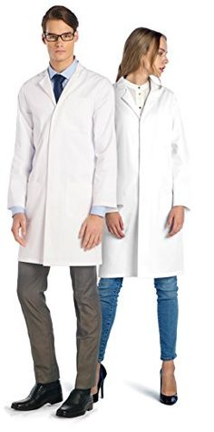 Dr. James Professional Unisex Lab Coat 39 Inch Length  Professional Medical Lab Coat. Custom Styled for Men and Women.  Suitable for all Medical Professionals to include Doctors, Scientists, Dentists and Nurses.  One of the Best Selling Lab Coats available for Third Level University Students  Superior Industry Grade Fabric. 7 oz. Weight. Low Shrinkage  2 Waist Pockets and 1 Chest Pocket with Pen Holder • Modern Design with Concealed Snap Closing for Quick Release • Entry Slits at Sides...