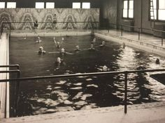 """#TBT - President St. Clair Moss campaigned for $25,000 to build a natatorium in 1919, considered the largest and most beautiful pool connected with any institution in the Midwest. The site is now the location of Atkins-Holman Student Commons."" 