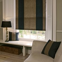 This Wool Roller Blind is great for living rooms.